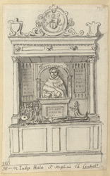 Tomb of Judge Hale at St Stephen's church in Canterbury
